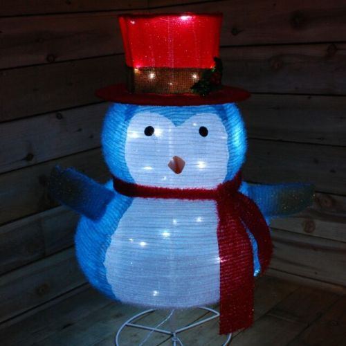 90cm Light up Christmas Party Festive Collapsible Penguin Indoor Decoration